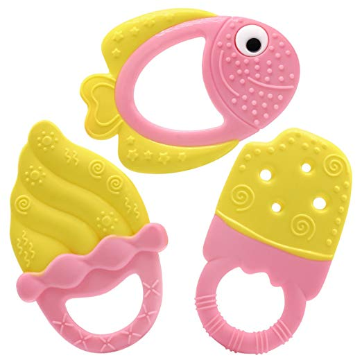 Baby Teething Toys – Fish and Ice Cream Set