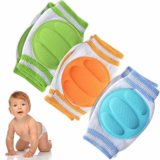 Baby Knee Pads for Crawling (3 Pairs)